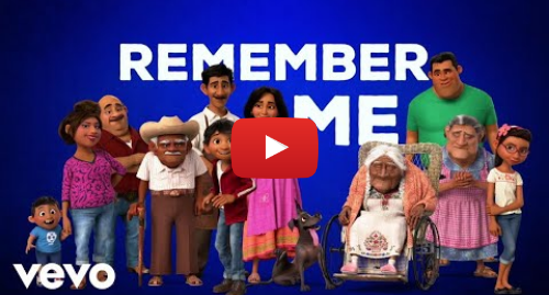 """Youtube post by DisneyMusicVEVO: Miguel - Remember Me (Dúo) (From """"Coco""""/Official Lyric Video) ft. Natalia Lafourcade"""