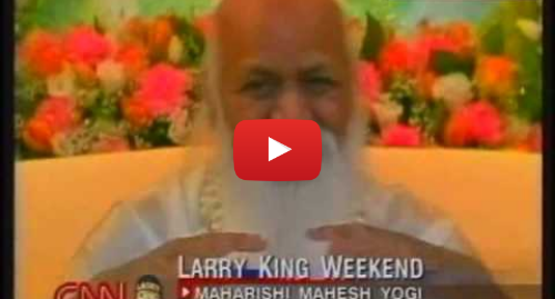 "यूट्यूब पोस्ट Maharishi Mahesh Yogi: ""What is Yogic Flying?,"" Asks Larry King to Maharishi Mahesh Yogi"