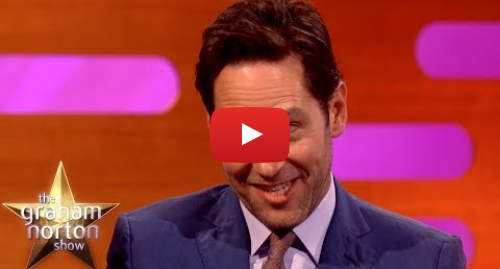 Youtube post by The Graham Norton Show: Paul Rudd Comments On Ant-Man vs Thanos Fan Theory In The New Avengers Film   The Graham Norton Show