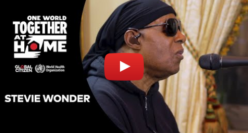 """Youtube post by Global Citizen: Stevie Wonder performs """"Lean On Me"""" & """"Love's In Need of Love Today 