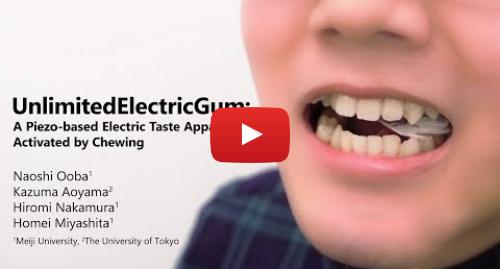 پست یوتیوب از 明治大学 宮下研究室: 【UIST2018 Demo】Unlimited Electric Gum  A Piezo-based Electric Taste Apparatus Activated by Chewing