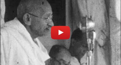 BFI এর ইউটিউব পোস্ট: Mahatma Gandhi Noa Khali March (1947)