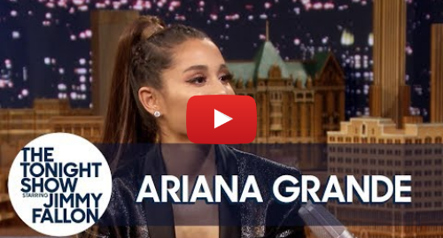 Youtube post by The Tonight Show Starring Jimmy Fallon: Ariana Grande Predicted She Would Marry Pete Davidson Three Years Ago