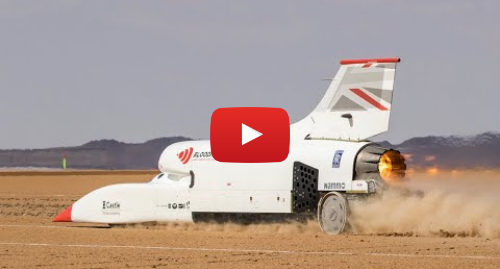 Tech Youtube post by Bloodhound LSR: 0 to 628mph / 1010kmh in 50 seconds
