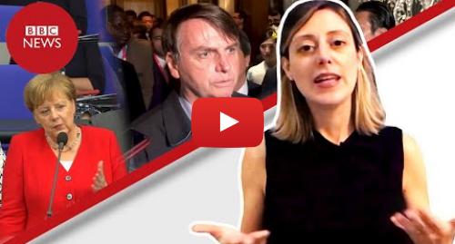 YouTube post de BBC News Brasil: Bolsonaro rebate Merkel  como meio ambiente gera tensão para o Brasil no G20
