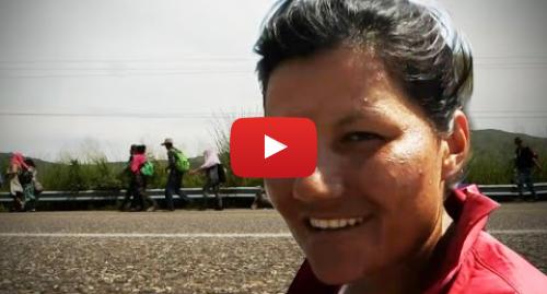 Publicación de Youtube por BBC News Mundo: Amenazas de Trump a la caravana  cómo reaccionan los migrantes en México