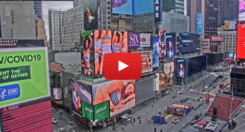 YouTube post de AE Signage: Times Square  1540 Broadway View Live