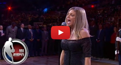 Youtube post by ESPN: Fergie's national anthem draws criticism | ESPN