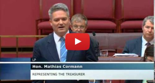 Youtube post by mathiascormann: Senate - Question Time - 28 October 2014