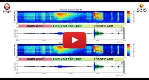 Youtube post by NASA Jet Propulsion Laboratory: First Likely Marsquake Heard by NASA's InSight