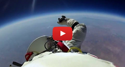 Youtube post by BBC Studios: Jumping From Space! - Red Bull Space Dive - BBC