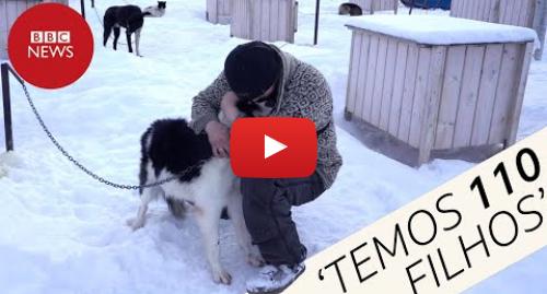 YouTube post de BBC News Brasil: O homem que mora com 110 cachorros no Ártico