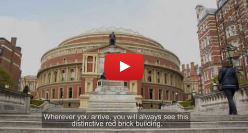 Youtube post by Royal Albert Hall: Relaxed Events  Welcome Video – Plan Your Visit to the Hall