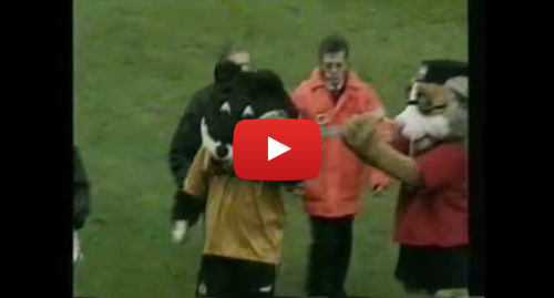 Youtube post by 90sSoccerBoy: Wolverhampton v Bristol mascots fight