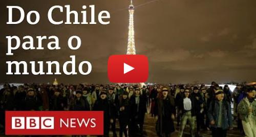 YouTube post de BBC News Brasil: 'O estuprador é você'  a coreografia feminista chilena que está viajando o mundo