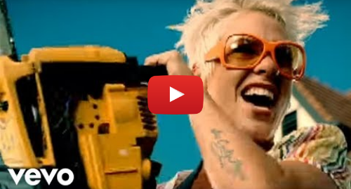 Youtube post by PinkVEVO: P!nk - So What (Official Music Video)