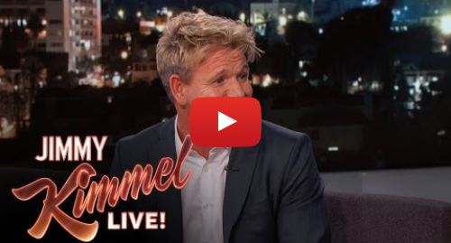 Youtube post by Jimmy Kimmel Live: Gordon Ramsay Hid During His Daughter's Driving Lessons