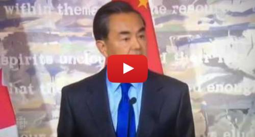Youtube 用户名 Johnson W K Choi: 王毅怒斥加拿大記者不専業 傲慢与偏见