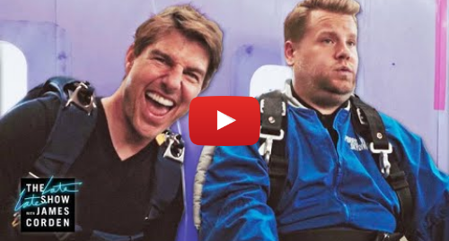 Youtube post by The Late Late Show with James Corden: Tom Cruise Forces James Corden to Skydive