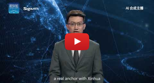 Youtube post by New China TV: Xinhua's first English AI anchor makes debut