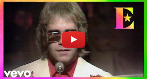 Youtube post by EltonJohnVEVO: Elton John - Your Song (Top Of The Pops 1971)