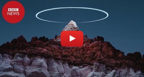 YouTube post de BBC News Brasil: Fotógrafo usa drone para criar 'anéis de luz' sobre paisagens naturais