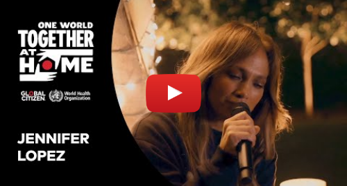 """Youtube post by Global Citizen: J Lo performs """"People"""" 