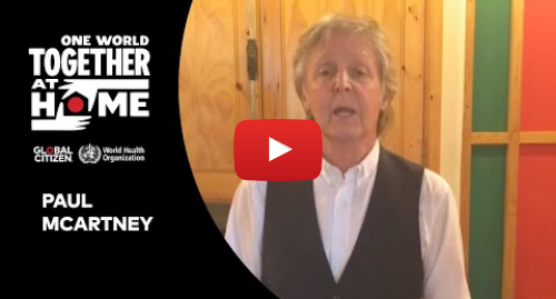 """Youtube post by Global Citizen: Paul McCartney performs """"Lady Madonna"""" 