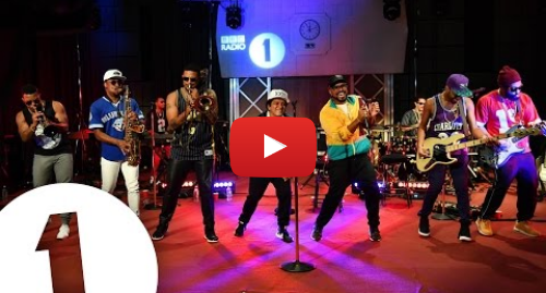 Youtube post by BBC Radio 1: Bruno Mars - 24K Magic in the Live Lounge
