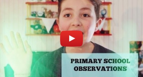 Youtube post by lookingforlewys: PRIMARY SCHOOL OBSERVATIONS