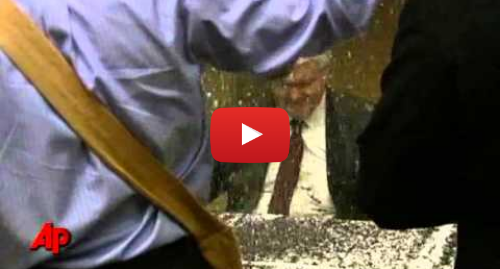 Youtube post by Associated Press: Raw Video  Gingrich Hit With Glitter in Minn.