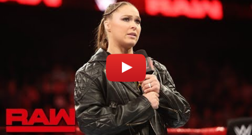 "Youtube post by WWE: Ronda Rousey honors Jim ""The Anvil"" Neidhart  Raw, Aug. 13, 2018"