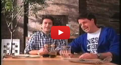 Youtube post by Alfred Verhoeven: IKEA dining room table - gay couple 1994