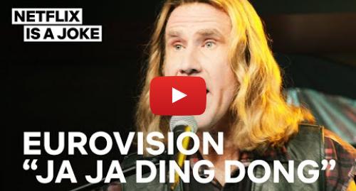Youtube post by Netflix Is A Joke: Eurovision   Ja Ja Ding Dong Full Song   Netflix Is A Joke