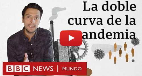"""Publicación de Youtube por BBC News Mundo: La """"doble curva"""" del coronavirus y el """"falso dilema"""" entre salvar vidas o la economía"""
