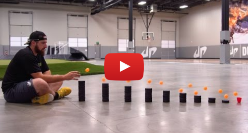 Youtube post by Dude Perfect: Ping Pong Trick Shots 3 | Dude Perfect