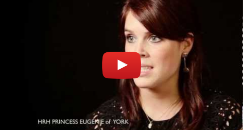Youtube post by TheRNOHCharity: Princess Eugenie's Story