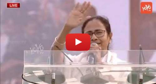 Youtube post by YOYO TV Channel: Mamata Banerjee Speech | United India Rally Meeting Live at Kolkata | Anti BJP Alliance | YOYO TV