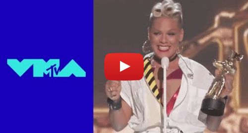 Youtube post by MTV: P!nk Accepts the 'Michael Jackson Video Vanguard Award' | 2017 VMAs | MTV