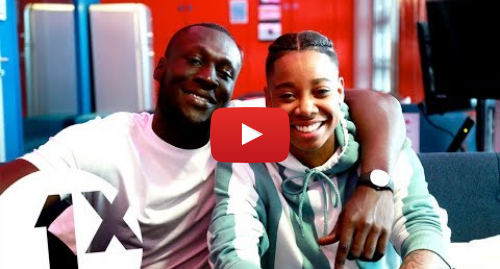 Youtube post by BBC Radio 1Xtra: Vossi Bop Day - Stormzy live on the 1Xtra Breakfast Show with Dotty