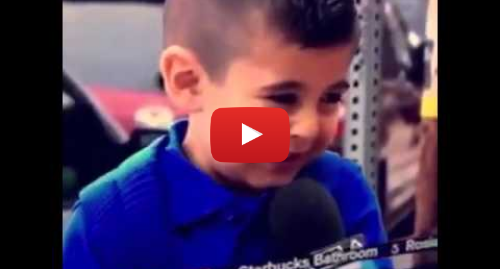 Youtube post by 2310LAX: Reporter makes boy cry vine
