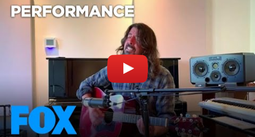 """Youtube post by FOX: Dave Grohl Performs """"My Hero"""" 