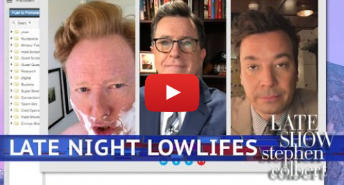 Youtube post by The Late Show with Stephen Colbert: 'Lowlife' Colbert Video Chats With 'Lost Soul' Fallon & Conan O'Brien