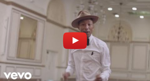 Youtube post by PharrellWilliamsVEVO: Pharrell Williams - Happy (Official Music Video)