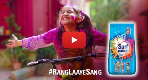 Youtube post by Surf excel: Surf Excel #RangLaayeSang | This Holi, let colours bring us together!