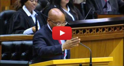 Youtube post by SABC Digital News: [MUST WATCH] President Zuma jokes about Nkandla in Parliament