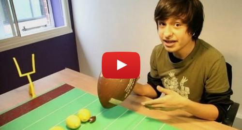 Publicación de Youtube por BBC News Mundo: Superbowl  fútbol americano explicado con mandarinas y limones