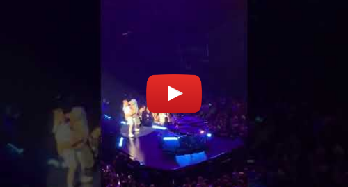 Youtube post by Hani: Crazy Fan drops Lady Gaga on stage (bad!)