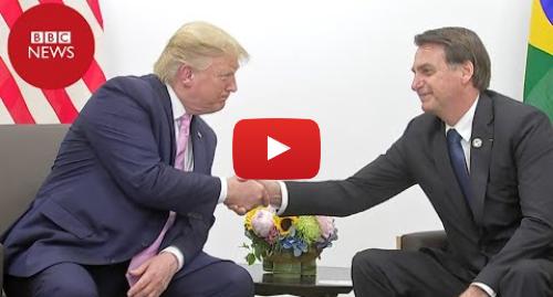 YouTube post de BBC News Brasil: Bolsonaro e Trump trocam palavras de apoio no G20