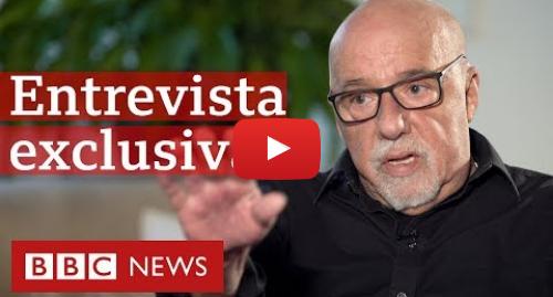 YouTube post de BBC News Brasil: Paulo Coelho  Vou perder leitores, mas criticar Bolsonaro é compromisso histórico